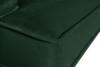 FALCO Sofa trzyosobowa welurowa glamour butelkowa zieleń zielony - zdjęcie 3