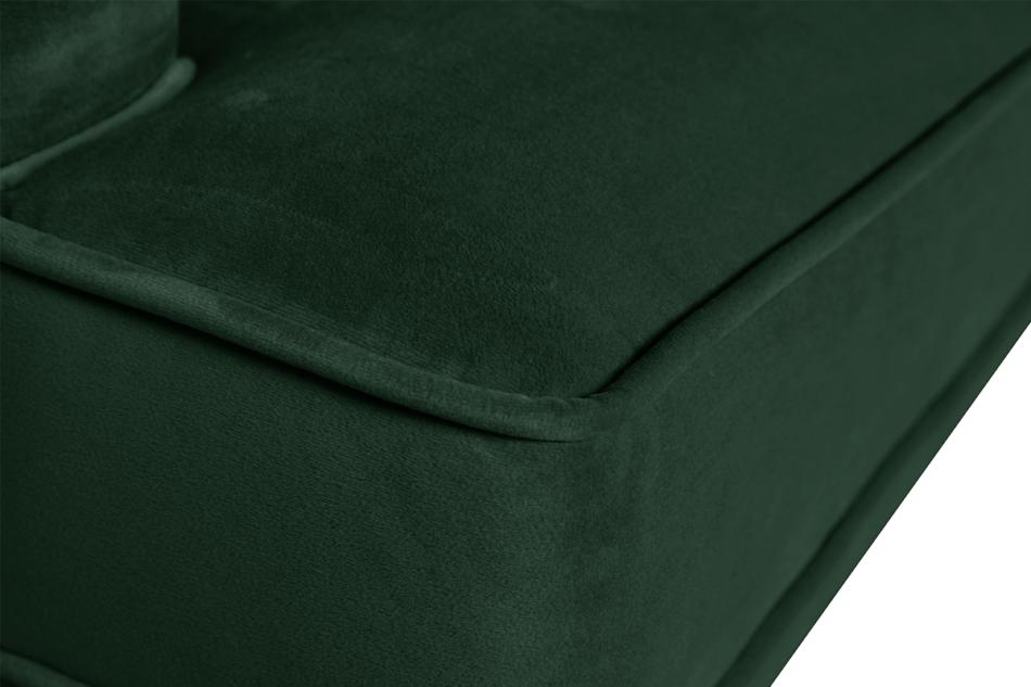 FALCO Sofa trzyosobowa welurowa glamour butelkowa zieleń zielony - zdjęcie 2