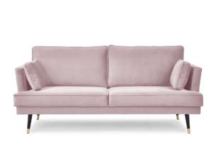 FALCO, https://konsimo.pl/kolekcja/falco/ Sofa trzyosobowa welurowa glamour różowa różowy - zdjęcie