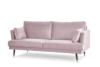 FALCO Sofa trzyosobowa welurowa glamour różowa różowy - zdjęcie 2