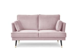 FALCO, https://konsimo.pl/kolekcja/falco/ Sofa dwuosobowa welurowa glamour różowa różowy - zdjęcie
