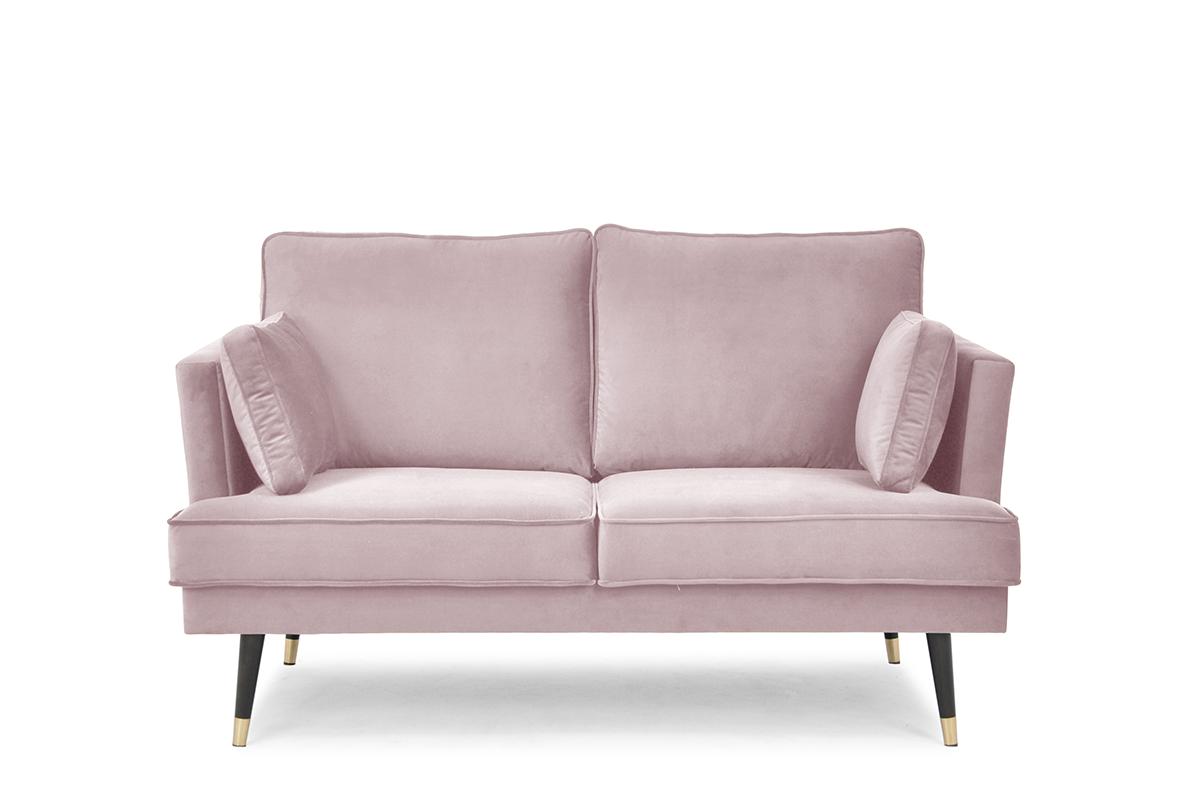 Sofa dwuosobowa welurowa glamour różowa
