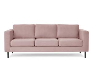 TOZZI, https://konsimo.pl/kolekcja/tozzi/ Welurowa sofa 3 osobowa na metalowych nóżkach różowa różowy - zdjęcie