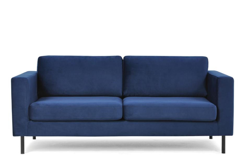 TOZZI Welurowa sofa 200 cm na metalowych nóżkach granatowa granatowy - zdjęcie 0