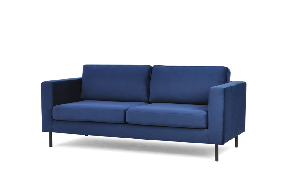 TOZZI Welurowa sofa 200 cm na metalowych nóżkach granatowa granatowy - zdjęcie 1