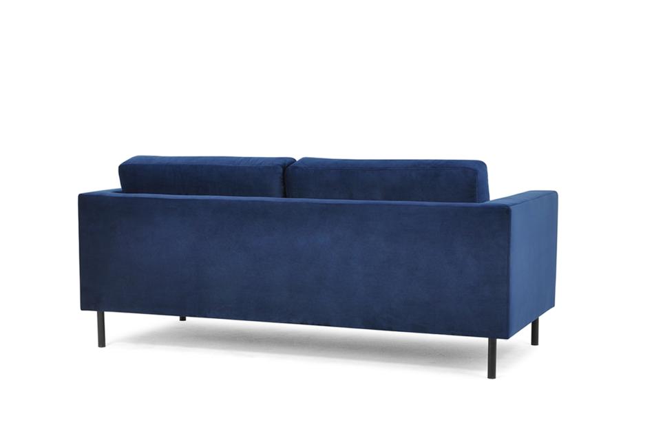 TOZZI Welurowa sofa 200 cm na metalowych nóżkach granatowa granatowy - zdjęcie 3