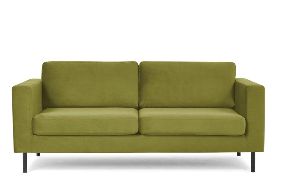 TOZZI Welurowa sofa 200 cm na metalowych nóżkach oliwkowa oliwkowy - zdjęcie 0