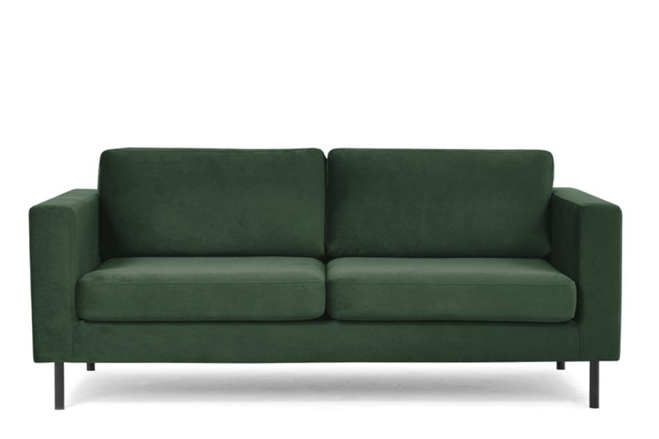 TOZZI Welurowa sofa 200 cm na metalowych nóżkach butelkowa zieleń zielony - zdjęcie 0