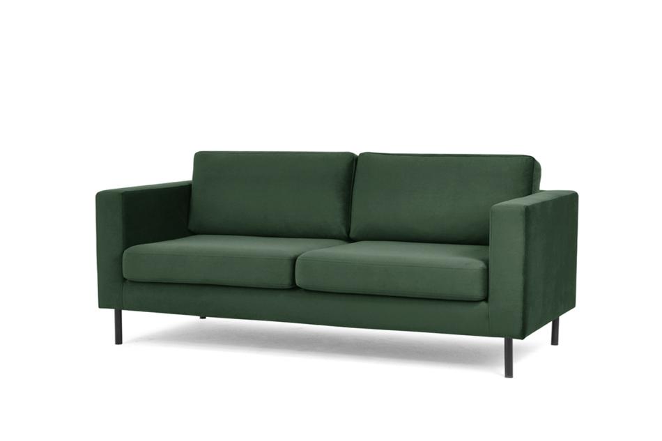 TOZZI Welurowa sofa 200 cm na metalowych nóżkach butelkowa zieleń zielony - zdjęcie 1