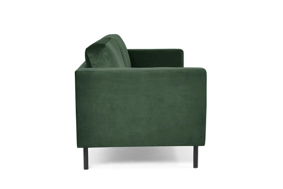 TOZZI Welurowa sofa 200 cm na metalowych nóżkach butelkowa zieleń zielony - zdjęcie 3