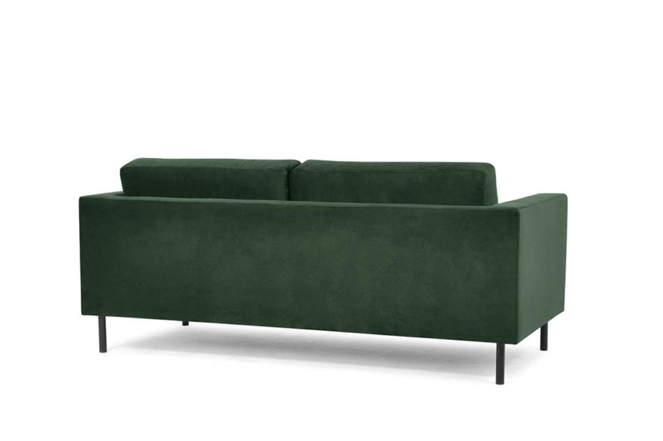 TOZZI Welurowa sofa 200 cm na metalowych nóżkach butelkowa zieleń zielony - zdjęcie 2
