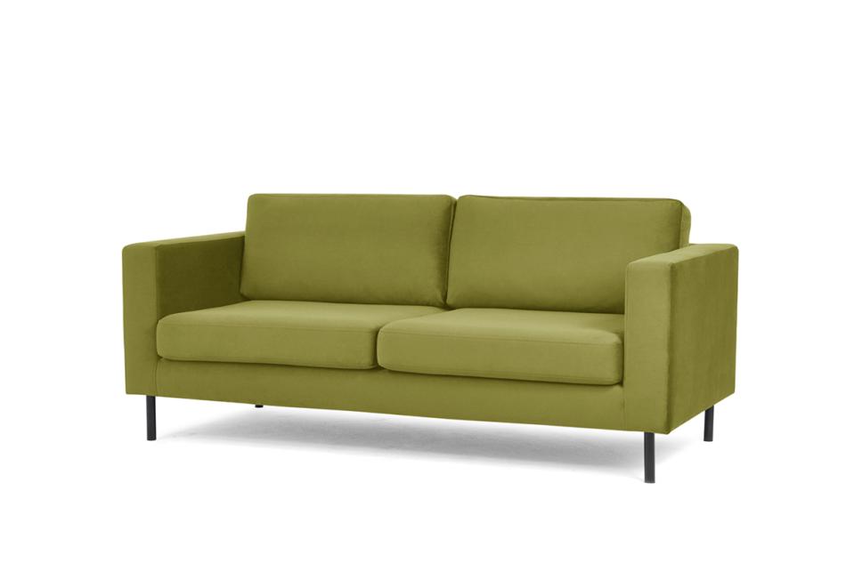 TOZZI Welurowa sofa 200 cm na metalowych nóżkach oliwkowa oliwkowy - zdjęcie 1
