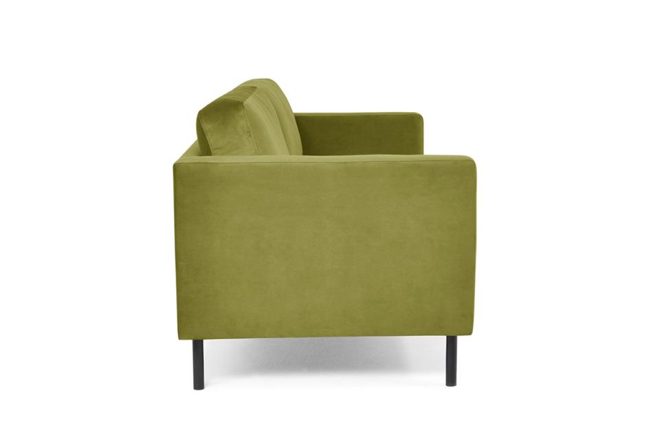 TOZZI Welurowa sofa 200 cm na metalowych nóżkach oliwkowa oliwkowy - zdjęcie 2