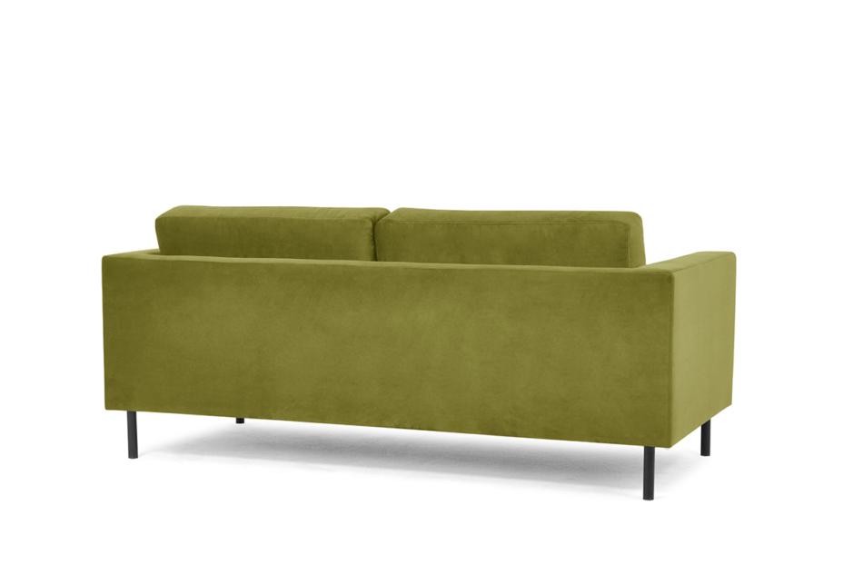 TOZZI Welurowa sofa 200 cm na metalowych nóżkach oliwkowa oliwkowy - zdjęcie 3