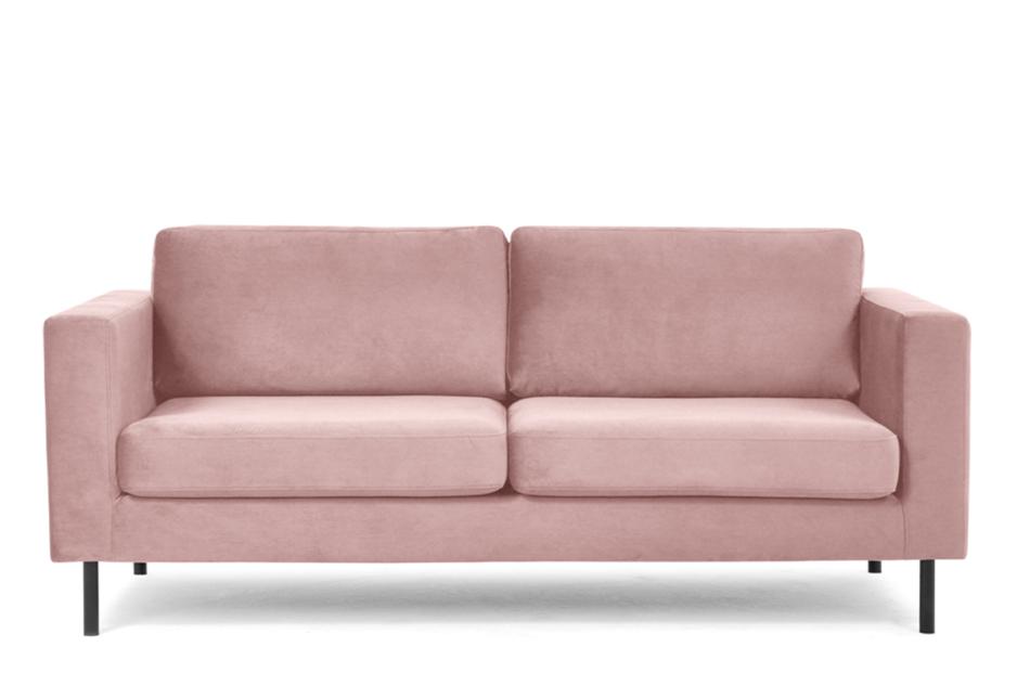 TOZZI Welurowa sofa 200 cm na metalowych nóżkach różowa różowy - zdjęcie 0