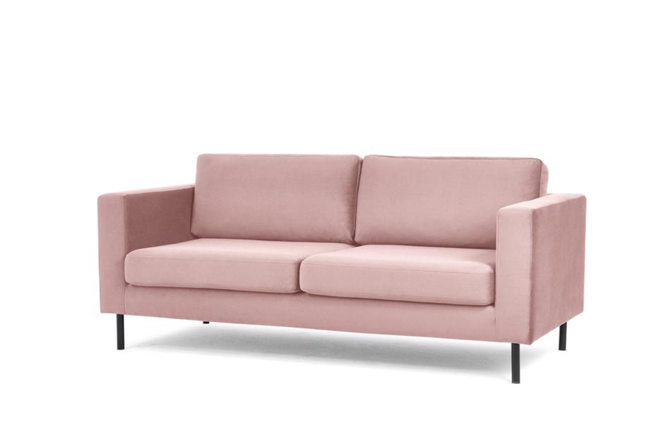 TOZZI Welurowa sofa 200 cm na metalowych nóżkach różowa różowy - zdjęcie 1