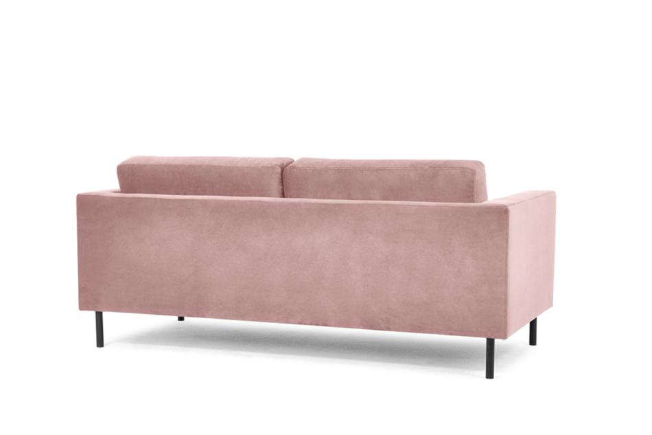 TOZZI Welurowa sofa 200 cm na metalowych nóżkach różowa różowy - zdjęcie 3