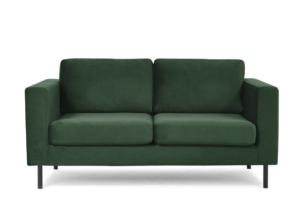 TOZZI, https://konsimo.pl/kolekcja/tozzi/ Welurowa sofa 2 osobowa na metalowych nóżkach butelkowa zieleń zielony - zdjęcie