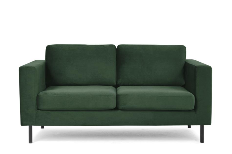 TOZZI Welurowa sofa 2 osobowa na metalowych nóżkach butelkowa zieleń zielony - zdjęcie 0