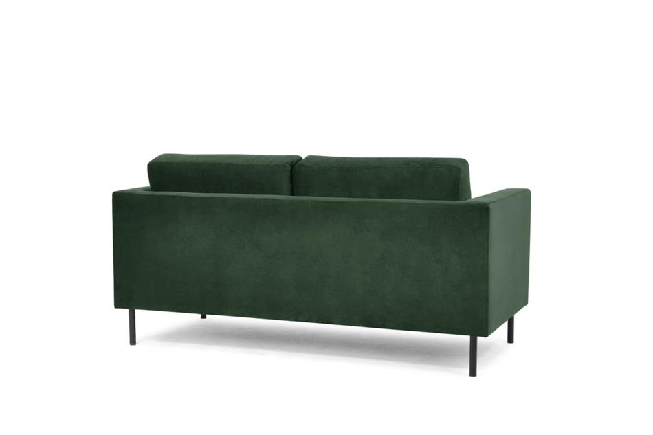 TOZZI Welurowa sofa 2 osobowa na metalowych nóżkach butelkowa zieleń zielony - zdjęcie 3