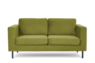 TOZZI, https://konsimo.pl/kolekcja/tozzi/ Welurowa sofa 2 osobowa na metalowych nóżkach oliwkowa oliwkowy - zdjęcie