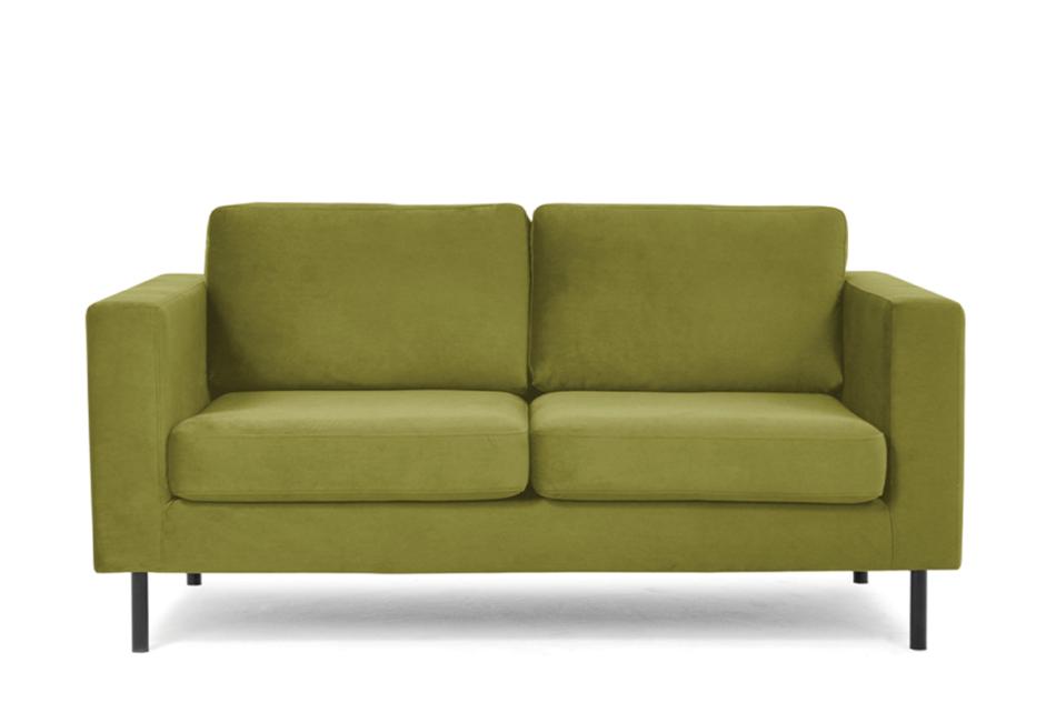 TOZZI Welurowa sofa 2 osobowa na metalowych nóżkach oliwkowa oliwkowy - zdjęcie 0