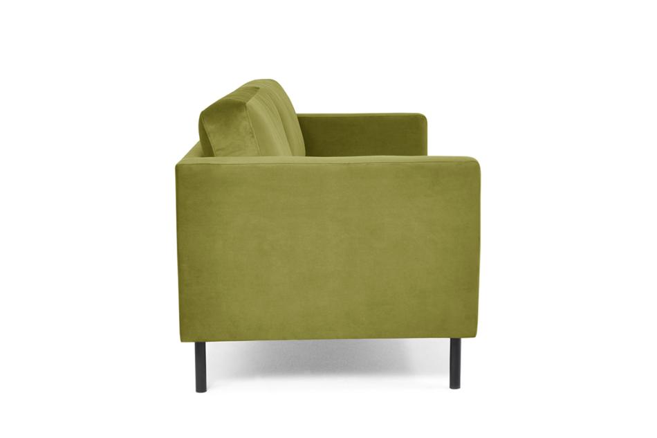 TOZZI Welurowa sofa 2 osobowa na metalowych nóżkach oliwkowa oliwkowy - zdjęcie 3