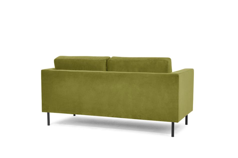 TOZZI Welurowa sofa 2 osobowa na metalowych nóżkach oliwkowa oliwkowy - zdjęcie 2