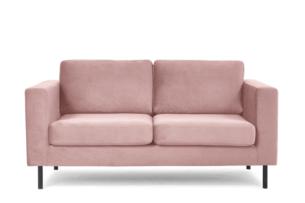 TOZZI, https://konsimo.pl/kolekcja/tozzi/ Welurowa sofa 2 osobowa na metalowych nóżkach różowa różowy - zdjęcie