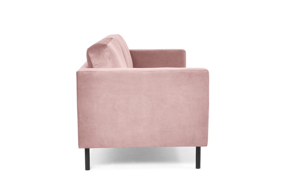 TOZZI Welurowa sofa 2 osobowa na metalowych nóżkach różowa różowy - zdjęcie 4