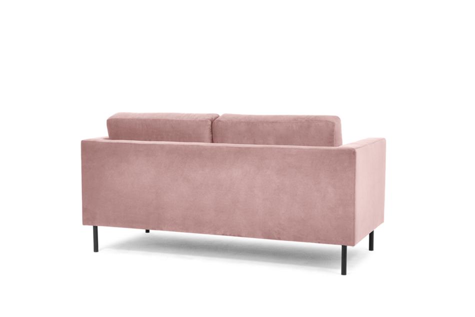 TOZZI Welurowa sofa 2 osobowa na metalowych nóżkach różowa różowy - zdjęcie 3