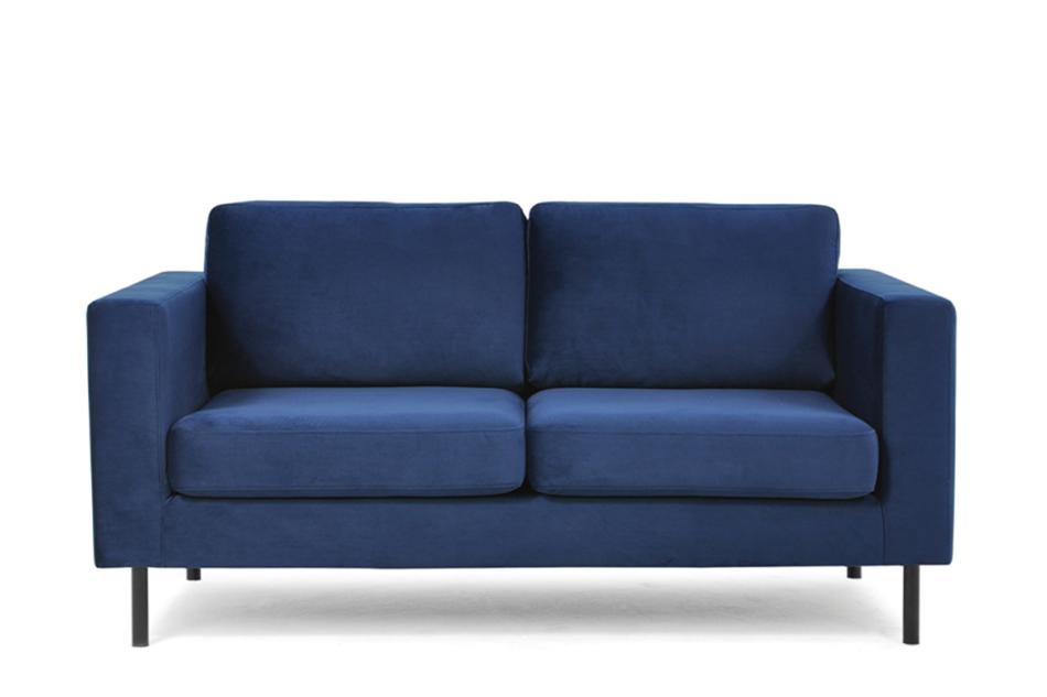 TOZZI Welurowa sofa 2 osobowa na metalowych nóżkach granatowa granatowy - zdjęcie 0