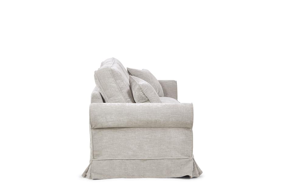 PURRO Sofa ze zdejmowanym pokrowcem beżowa beżowy - zdjęcie 4