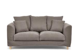 BRYONI, https://konsimo.pl/kolekcja/bryoni/ Sofa 2 osobowa z dodatkowymi poduszkami brązowa brązowy - zdjęcie