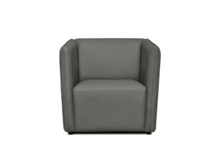 UMBO, https://konsimo.pl/kolekcja/umbo/ Niski fotel ekoskóra szary szary - zdjęcie