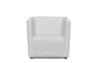 UMBO, https://konsimo.pl/kolekcja/umbo/ Niski fotel ekoskóra biały biały - zdjęcie