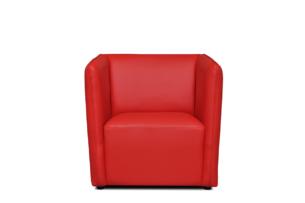 UMBO, https://konsimo.pl/kolekcja/umbo/ Niski fotel ekoskóra czerwony czerwony - zdjęcie