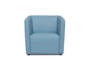 UMBO, https://konsimo.pl/kolekcja/umbo/ Niski fotel ekoskóra niebieski błękitny - zdjęcie