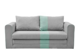MANKE, https://konsimo.pl/kolekcja/manke/ Rozkładana sofa dwuosobowa szara szary/miętowy - zdjęcie