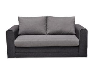 HINO, https://konsimo.pl/kolekcja/hino/ Nowoczesna sofa rozkładana z dużymi poduchami szara szary - zdjęcie