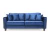 KANO Sofa trzyosobowa z dodatkowymi poduszkami granatowa granatowy - zdjęcie 1