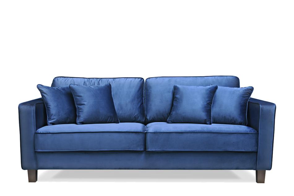KANO Sofa trzyosobowa z dodatkowymi poduszkami granatowa granatowy - zdjęcie 0