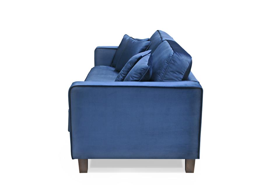 KANO Sofa trzyosobowa z dodatkowymi poduszkami granatowa granatowy - zdjęcie 2