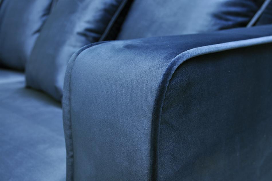KANO Sofa trzyosobowa z dodatkowymi poduszkami granatowa granatowy - zdjęcie 4