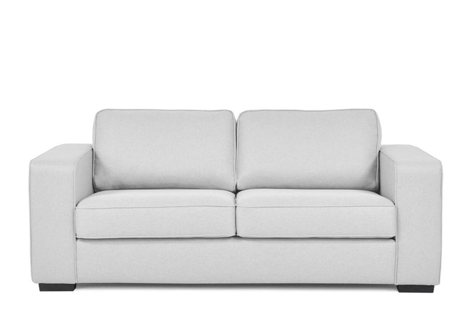 BINTU Sofa z funkcją spania codziennego z materacem jasnoszara jasny szary - zdjęcie 0