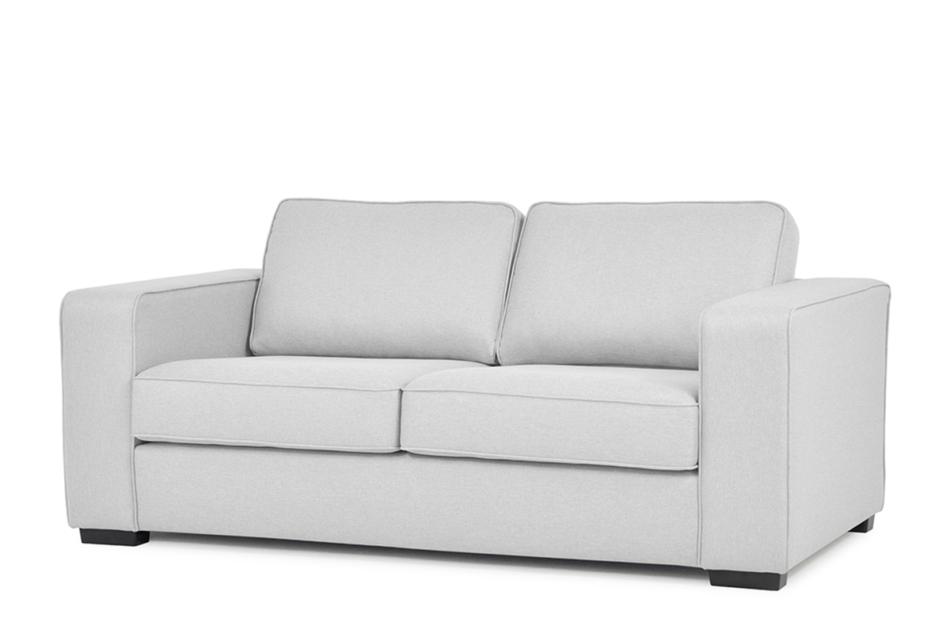 BINTU Sofa z funkcją spania codziennego z materacem jasnoszara jasny szary - zdjęcie 1