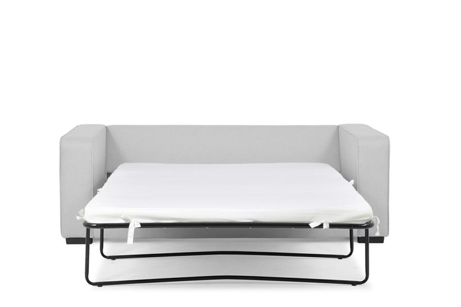 BINTU Sofa z funkcją spania codziennego z materacem jasnoszara jasny szary - zdjęcie 2