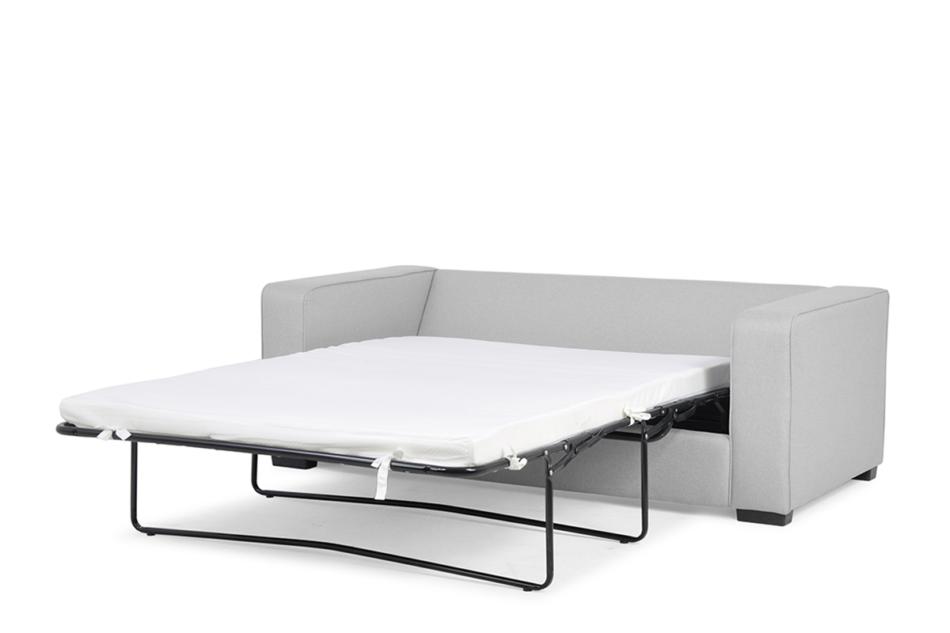 BINTU Sofa z funkcją spania codziennego z materacem jasnoszara jasny szary - zdjęcie 3