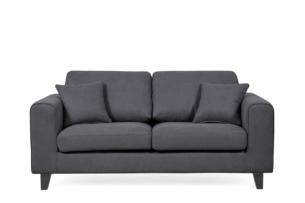 TIKO, https://konsimo.pl/kolekcja/tiko/ Prosta sofa ciemne nóżki szara ciemny szary - zdjęcie