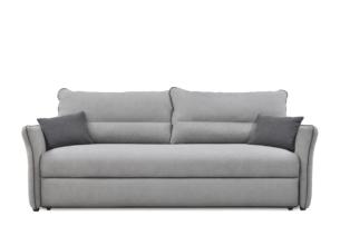 JUSTI, https://konsimo.pl/kolekcja/justi/ Rozkładana sofa 3 osobowa z dużymi poduchami szara szary/antracyt - zdjęcie
